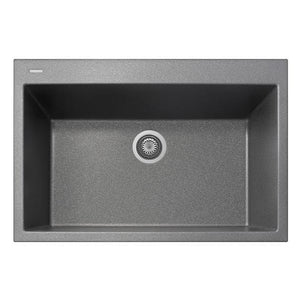 "Latoscana Plados 33"" Drop-In Single Bowl Kitchen Sink"
