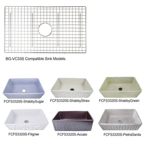 Nantucket Stainless Steel Bottom Grid - BG-VC33S - Manor House Sinks