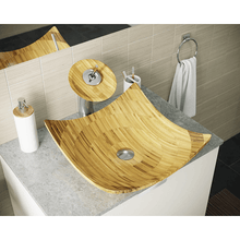 "Load image into Gallery viewer, 16"" Bathroom Waterfall Faucet Ensemble - P298-ABR - Manor House Sinks"