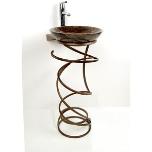 D'Vontz Becca Spring Pedestal Base Antique Bronze - MDI3-AB - Manor House Sinks