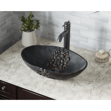 "Load image into Gallery viewer, Polaris 20"" Bronze Blackened Vessel Sink - P859 - Manor House Sinks"