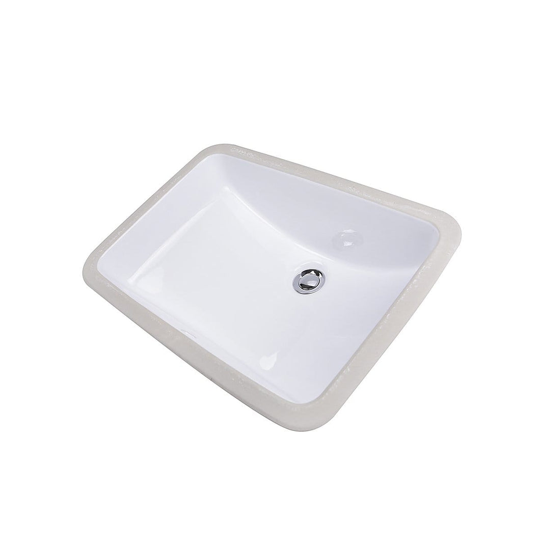 Nantucket Glazed Bottom Undermount Oval Ceramic Sink In White - GB-18x12-W - Manor House Sinks