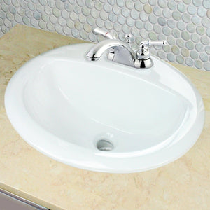 "Nantucket 20.25"" Drop-In Ceramic Vanity Sink - DI2017-4 - Manor House Sinks"