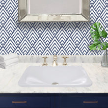 "Load image into Gallery viewer, Nantucket 21"" Rectangular Drop-In Ceramic Vanity Sink - DI-2114-R - Manor House Sinks"
