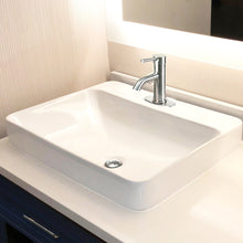 "Load image into Gallery viewer, Nantucket 23"" 1-hole Rectangular Drop-In Ceramic Vanity Sink - DI-2317-R1 - Manor House Sinks"