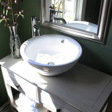 Load image into Gallery viewer, Nantucket Round  White Vessel Sink With Overflow - NSV218 - Manor House Sinks