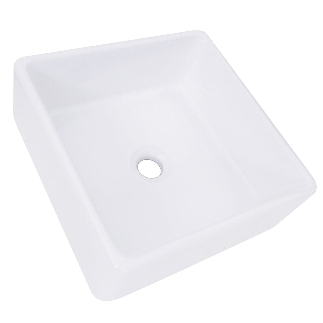 Nantucket Square White Vessel Sink - NSV107A - Manor House Sinks