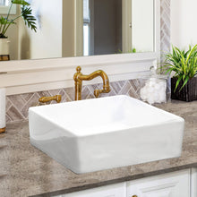Load image into Gallery viewer, Nantucket Square White Vessel Sink - NSV107A - Manor House Sinks