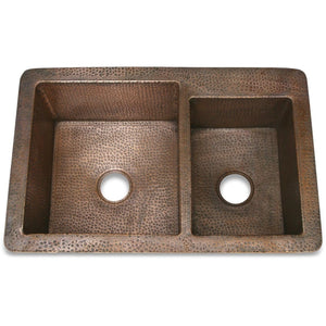 D'Vontz Double Well 60/40, Dark Smoke - KS33622DS - Manor House Sinks