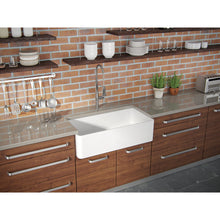 "Load image into Gallery viewer, LaToscana 30"" Fireclay Farmhouse Sink LTW3019W - Manor House Sinks"