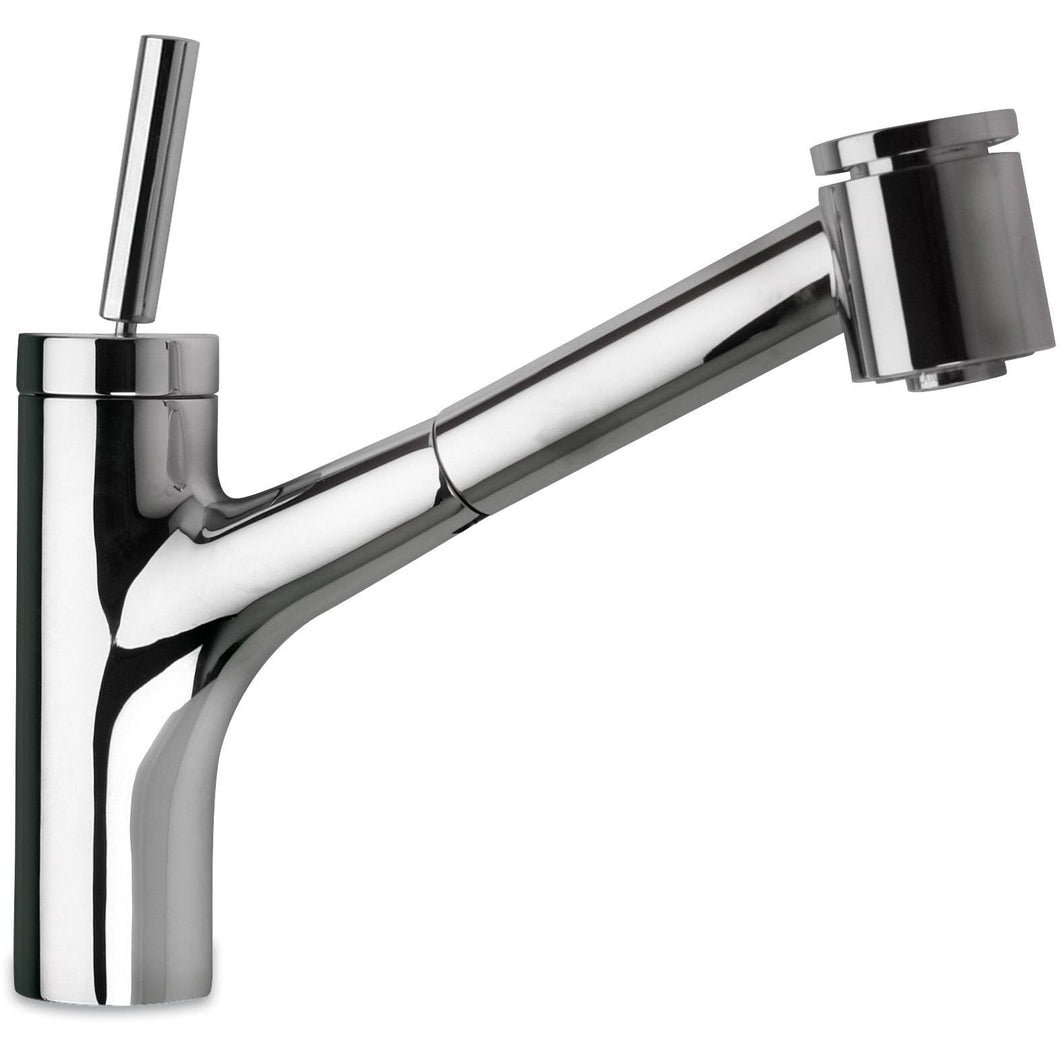LATOSCANA Elba Single Handle Joystick Pull-Out Kitchen Faucet With 2 Function Sprayer (Stream/Spray), Chrome - 78CR576JO - Manor House Sinks