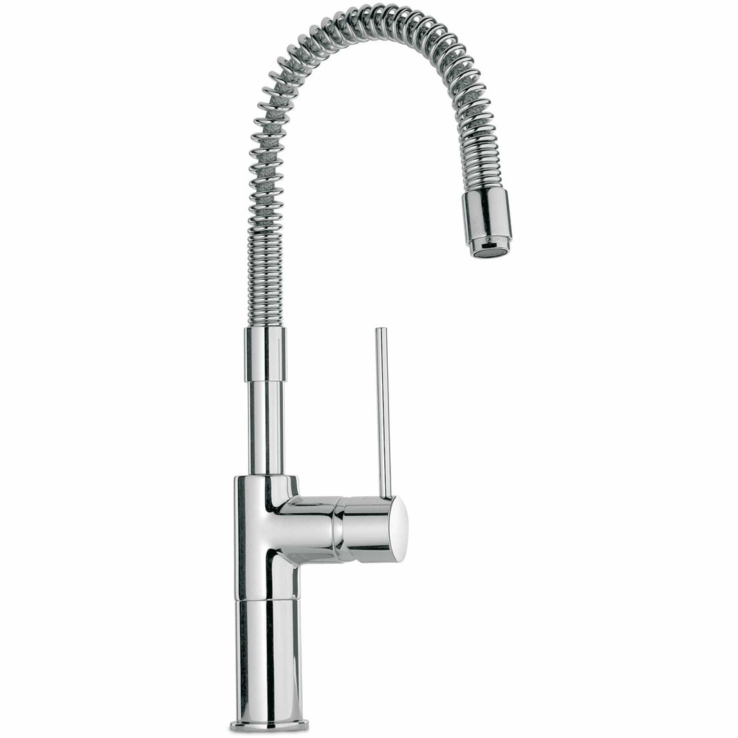LATOSCANA Elba Single Handle Kitchen Faucet With Spring Spout, Stream Only, Chrome - 78CR558 - Manor House Sinks