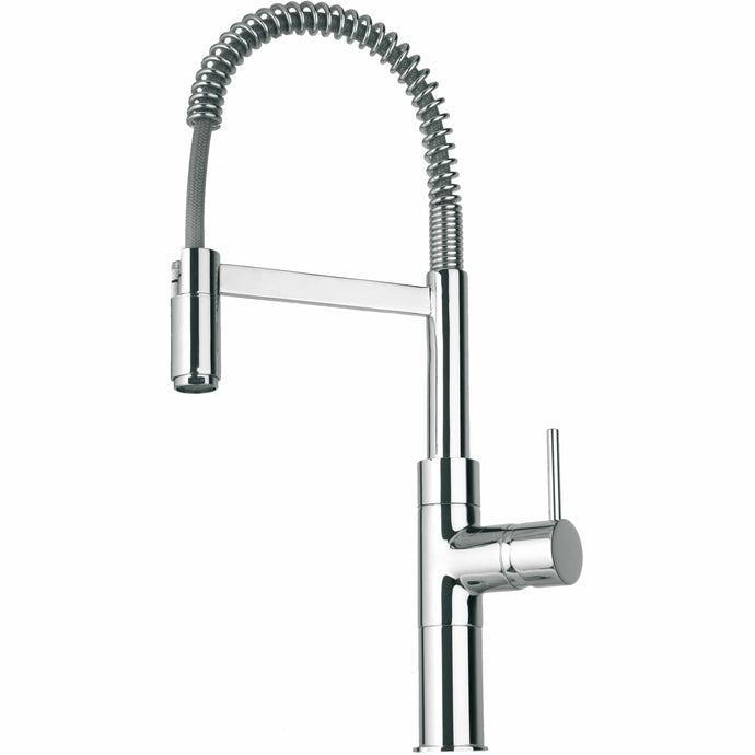 LATOSCANA Elba Single Handle Kitchen Faucet With Spring Sprout, Chrome - 78CR556 - Manor House Sinks