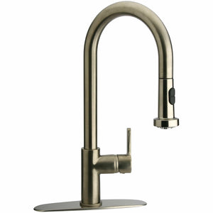 LATOSCANA Elix Single Handle Pull-Down Spray Kitchen Faucet, Chrome - 92CR591LL - Manor House Sinks