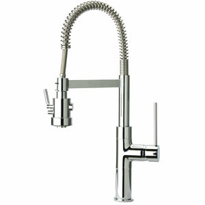 LATOSCANA Mini Marilyn Single Handle Pull-Out Spray Kitchen Faucet, Chrome - 78CR557PHD - Manor House Sinks