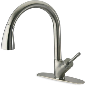 LATOSCANA Single Handle Pull-Down Spray Kitchen Faucet, Chrome - 64CR591JO - Manor House Sinks