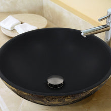 Load image into Gallery viewer, Nantucket Drake Fireclay Hand-Decorated Vanity Sink, Matte Black - RC7040GMS-MB - Manor House Sinks