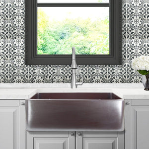 "Nantucket 30"" Farmhouse Fireclay Sink with Metallic Glaze - FCFS3020S-ACCIAIO - Manor House Sinks"