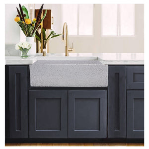 "Nantucket 30"" Farmhouse Fireclay Sink with Pietra Sarda Finish - FCFS3020S-PietraSarda - Manor House Sinks"