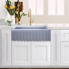 "Load image into Gallery viewer, Nantucket 30"" Farmhouse Fireclay Sink with Pietra Sarda Finish - FCFS3020S-PietraSarda - Manor House Sinks"