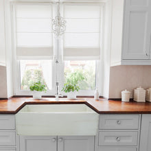 "Load image into Gallery viewer, Nantucket 30"" Farmhouse Fireclay Sink with Shabby Straw Finish - FCFS3020S-ShabbyStraw - Manor House Sinks"