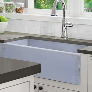 "Nantucket 33"" Farmhouse Fireclay Sink with Shabby Sugar Finish - FCFS3320S-ShabbySugar - Manor House Sinks"
