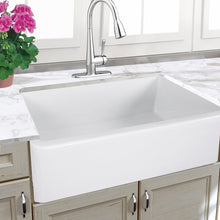 "Load image into Gallery viewer, Nantucket 33"" Italian Farmhouse Fireclay Sink - Harwich-33 - Manor House Sinks"