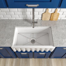 Load image into Gallery viewer, ZLINE Venice Farmhouse Reversible Fireclay Sink in White Gloss (FRC5119-WH-30)