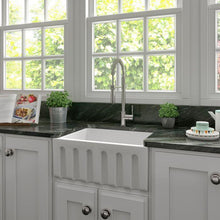 Load image into Gallery viewer, ZLINE Farmhouse Reversible Fireclay Sink in White Matte (FRC5120-WM-24)