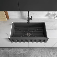 Load image into Gallery viewer, ZLINE Venice Farmhouse Reversible Fireclay Sink in Charcoal (FRC5131-CL-33)