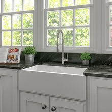Load image into Gallery viewer, ZLINE Venice Farmhouse Reversible Fireclay Sink in White Matte (FRC5131-WM-33)