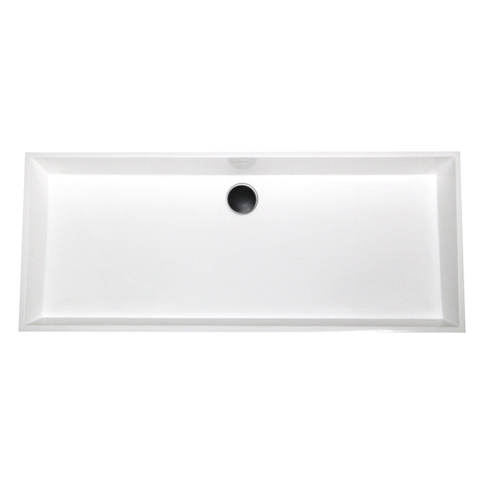 Nantucket Rectangle White Glacierstone Sink - NS-GSTR36 - Manor House Sinks