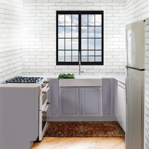 Nantucket Retrofit Glacierstone Double Bowl EZApron Kitchen Sink - NS-GSEZA32D - Manor House Sinks