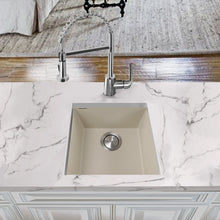 "Load image into Gallery viewer, Nantucket 17"" Single Bowl Undermount Granite Composite Bar-Prep Sink Sand - PR1716-S - Manor House Sinks"