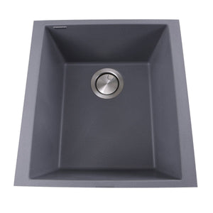 "Nantucket 17"" Single Bowl Undermount Granite Composite Bar-Prep Sink Titanium - PR1716-TI - Manor House Sinks"