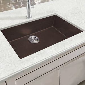 "Nantucket 33"" Dual-mount Granite Composite Sink in Brown - PR3322-DM-BR - Manor House Sinks"