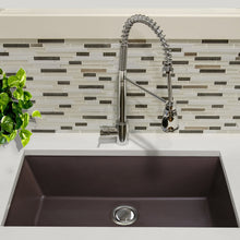 "Load image into Gallery viewer, Nantucket 33"" Undermount Granite Composite Sink in Brown - PR3320-BR-UM - Manor House Sinks"