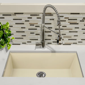"Nantucket 33"" Undermount Granite Composite Sink in Sand - PR3320-S-UM - Manor House Sinks"