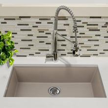 "Load image into Gallery viewer, Nantucket 33"" Undermount Granite Composite Sink in Truffle - PR3320-TR-UM - Manor House Sinks"
