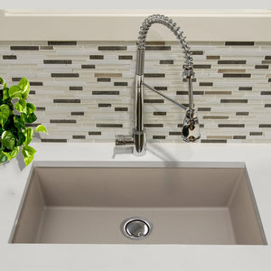 "Nantucket 33"" Undermount Granite Composite Sink in Truffle - PR3320-TR-UM - Manor House Sinks"