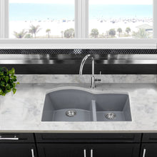 Load image into Gallery viewer, Nantucket 60/40 Double Bowl Undermount Granite Composite Titanium - PR6040-TI-UM - Manor House Sinks