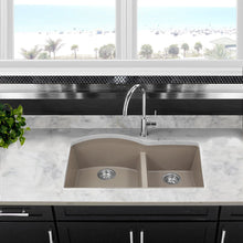 Load image into Gallery viewer, Nantucket 60/40 Double Bowl Undermount Granite Composite Truffle - PR6040-TR-UM - Manor House Sinks