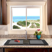 Load image into Gallery viewer, Nantucket Large Double Bowl Prep Station Topmount Granite Composite Brown - PR3420PS-BR - Manor House Sinks