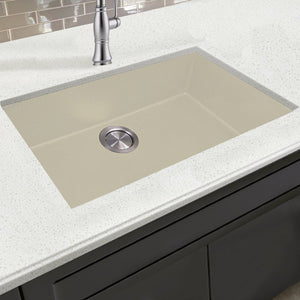 Nantucket Large Single Bowl Dual-mount Granite Composite Sand - PR3020-DM-S - Manor House Sinks