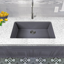 Load image into Gallery viewer, Nantucket Large Single Bowl Undermount Granite Composite Titanium - PR3018-TI - Manor House Sinks