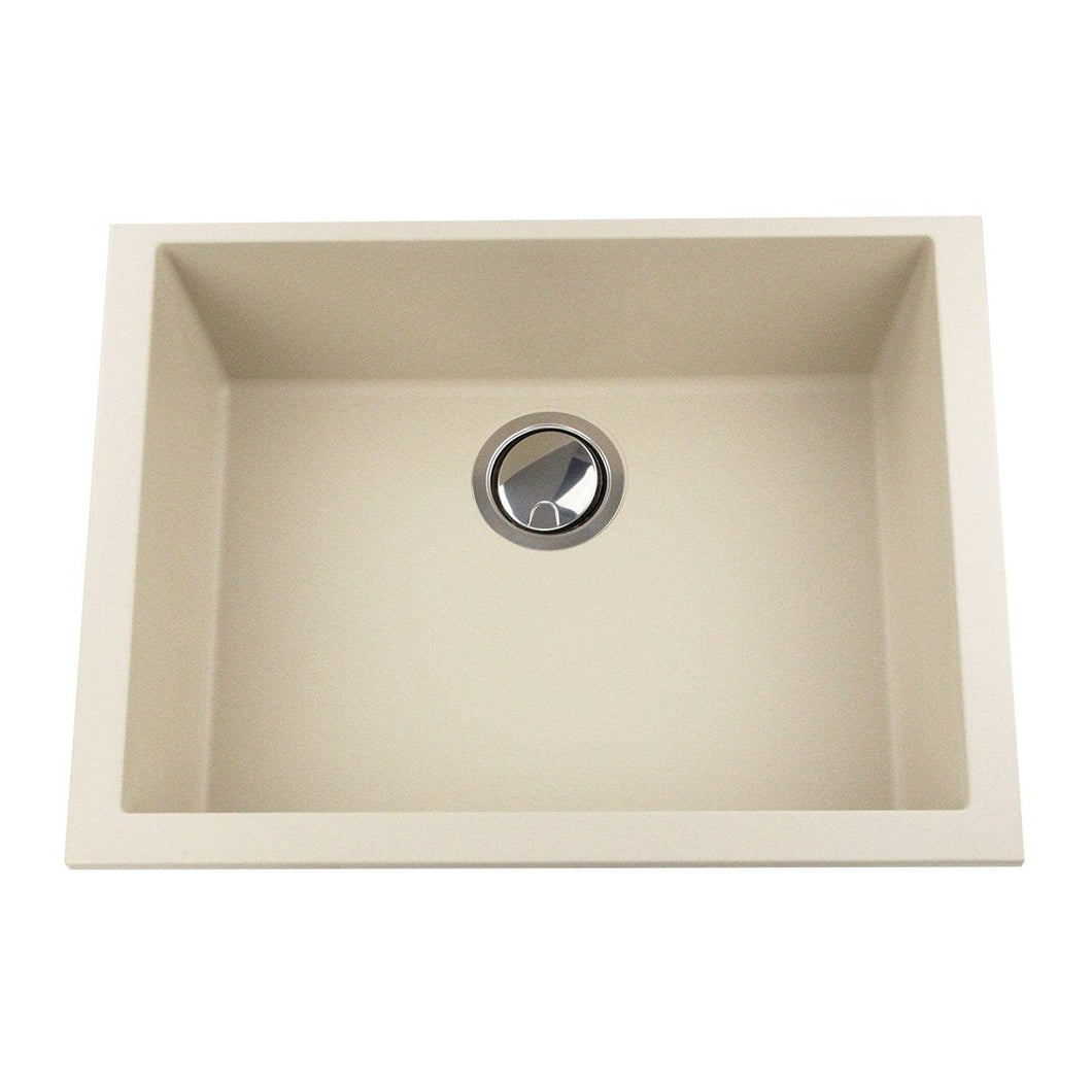 Nantucket Small Single Bowl Undermount Granite Composite Sand - PR2418-S - Manor House Sinks