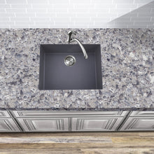 Load image into Gallery viewer, Nantucket Small Single Bowl Undermount Granite Composite Titanium - PR2418-TI - Manor House Sinks