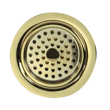 "Load image into Gallery viewer, Nantucket 3.5"" Polished Brass Kitchen Drain - 3.5 KDPB - Manor House Sinks"