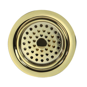 "Nantucket 3.5"" Polished Brass Kitchen Drain - 3.5 KDPB - Manor House Sinks"