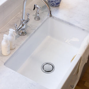 Nantucket Chrome Crumb Cup Disposal Drain Kitchen Drain - NS35LCC-DD - Manor House Sinks